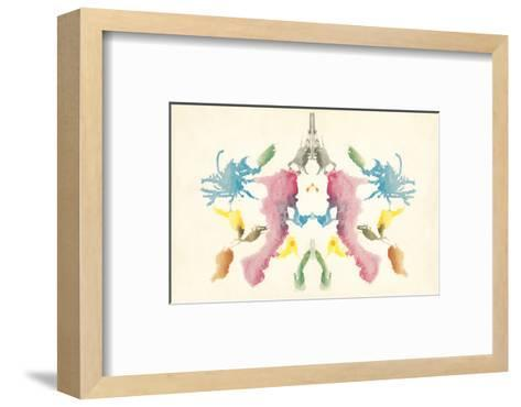 Rorschach Test in Red, Blue, Green and Gray--Framed Art Print
