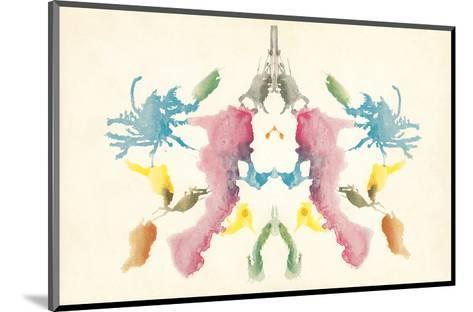 Rorschach Test in Red, Blue, Green and Gray--Mounted Art Print