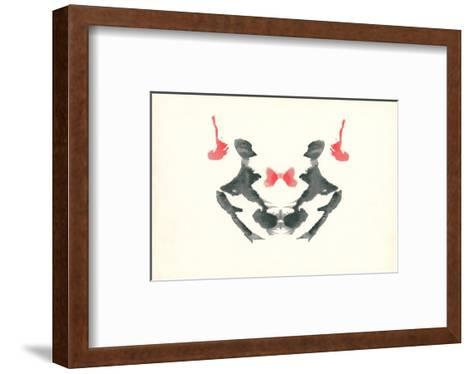 Rorschach Test in Red and Black--Framed Art Print