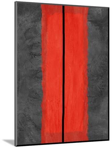 Grey and Red Abstract 5-NaxArt-Mounted Art Print