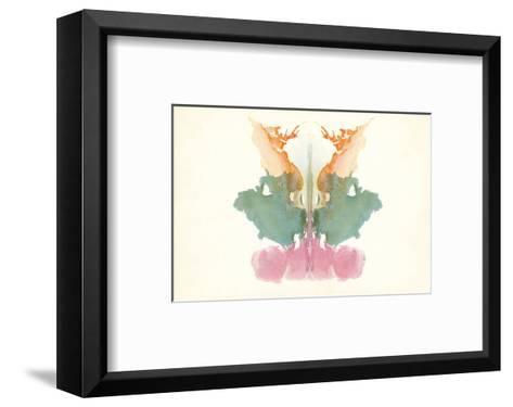 Rorschach Test in Red, Green and Orange--Framed Art Print
