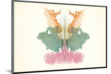 Rorschach Test in Red, Green and Orange--Mounted Art Print