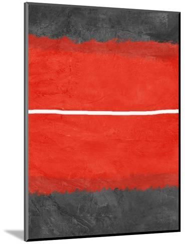 Grey and Red Abstract 2-NaxArt-Mounted Art Print
