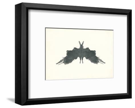 Rorschach Test in Black--Framed Art Print