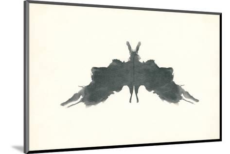 Rorschach Test in Black--Mounted Art Print