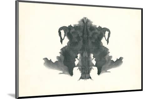 Rorschach Test in Black--Mounted Art Print