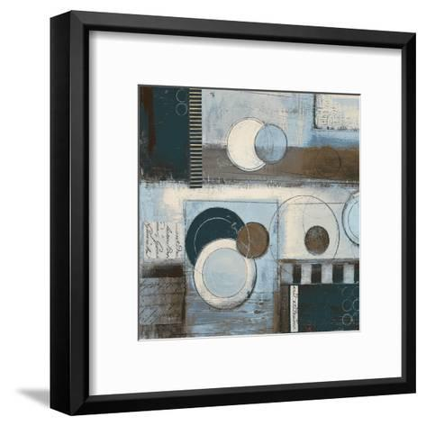 Rush Hour Blues Sq II-Kimberly Poloson-Framed Art Print