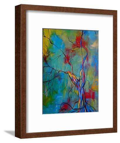 Tree Of Winding Color-Ruth Palmer-Framed Art Print