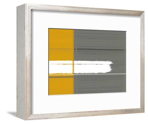 Grey and Yellow-NaxArt-Framed Art Print
