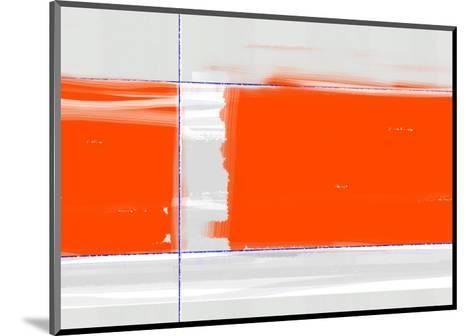 Orange Rectangle-NaxArt-Mounted Art Print