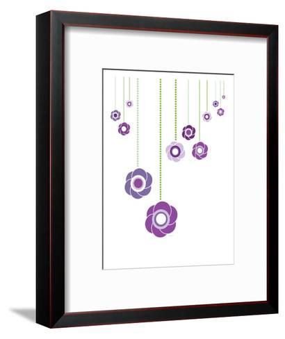 Purple Hanging Flowers-Avalisa-Framed Art Print