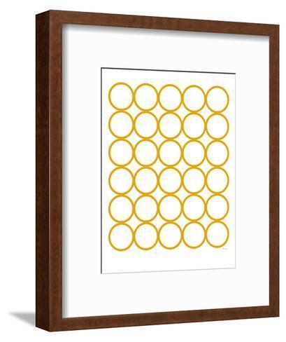 Yellow Circles-Avalisa-Framed Art Print