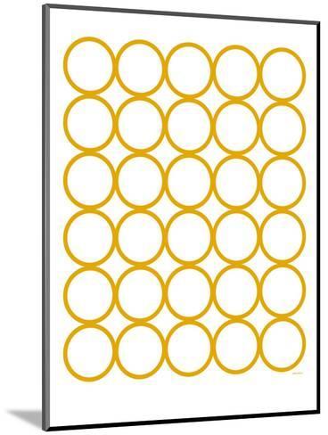 Yellow Circles-Avalisa-Mounted Art Print