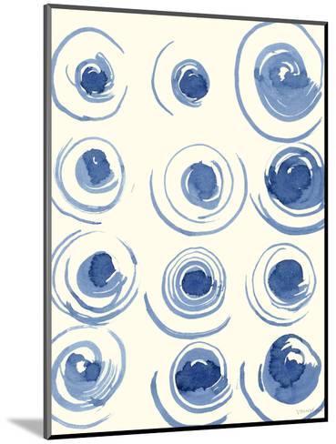 Macrame Blue II-Vanna Lam-Mounted Art Print