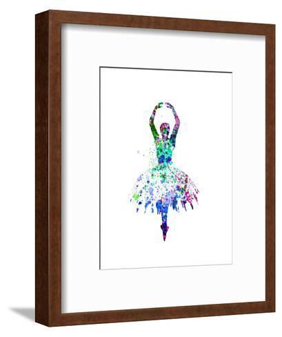 Ballerina Dancing Watercolor 4-Irina March-Framed Art Print