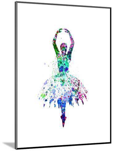 Ballerina Dancing Watercolor 4-Irina March-Mounted Art Print