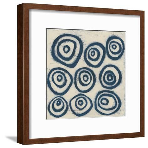 Indigo Signals I-June Erica Vess-Framed Art Print