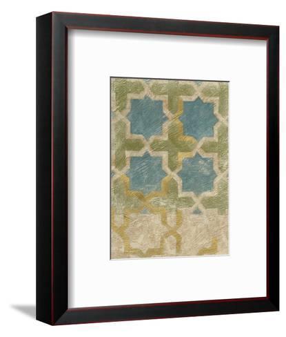 Non-Embellished Exotic Tile II-Chariklia Zarris-Framed Art Print