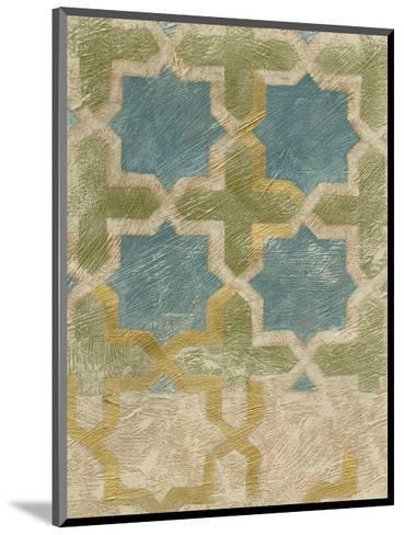 Non-Embellished Exotic Tile II-Chariklia Zarris-Mounted Art Print
