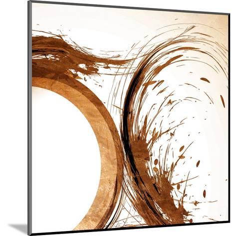 Copper Swirls 2-Kimberly Allen-Mounted Art Print
