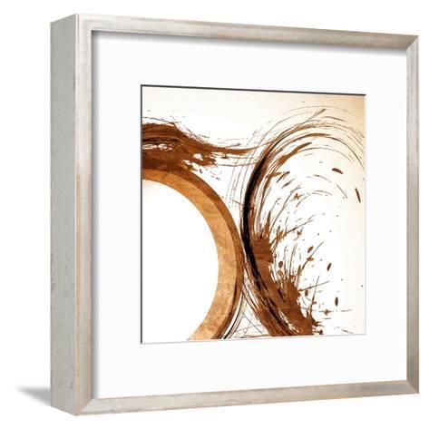 Copper Swirls 2-Kimberly Allen-Framed Art Print