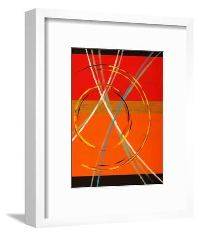 An Abstract Painting with Arcs, Circles and Stripes-clivewa-Framed Art Print