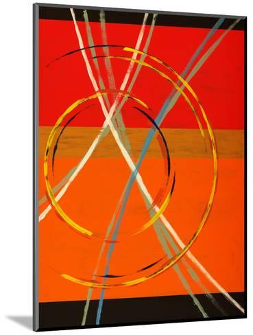 An Abstract Painting with Arcs, Circles and Stripes-clivewa-Mounted Art Print