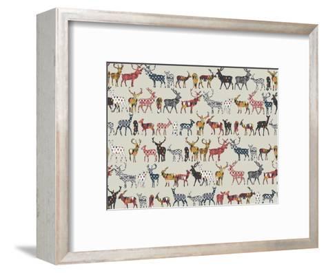 Oatmeal Spice Deer-Sharon Turner-Framed Art Print