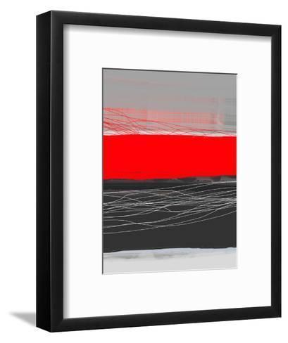 Abstract Stripe Theme Red-NaxArt-Framed Art Print