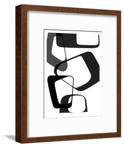 Abstract Rings 2-NaxArt-Framed Art Print