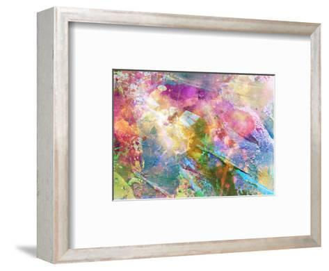 Abstract Grunge Texture With Watercolor Paint Splatter-run4it-Framed Art Print