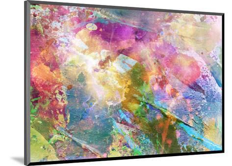 Abstract Grunge Texture With Watercolor Paint Splatter-run4it-Mounted Art Print