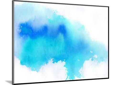 Blue Spot, Watercolor Abstract Hand Painted Background-katritch-Mounted Art Print