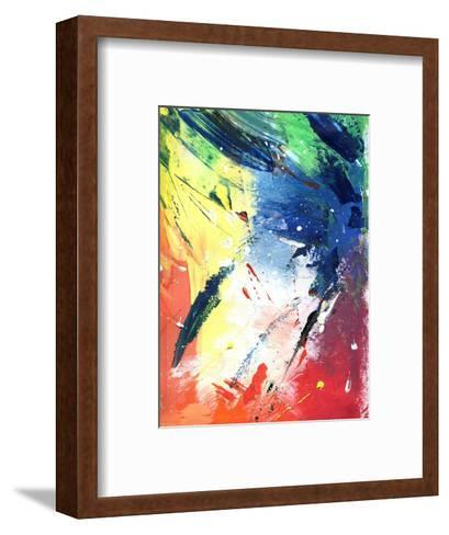 Abstract Painting With Expressive Brush Strokes-run4it-Framed Art Print