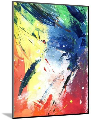 Abstract Painting With Expressive Brush Strokes-run4it-Mounted Art Print