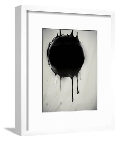 Abstract Oil Slick Flows With Drops-fet-Framed Art Print