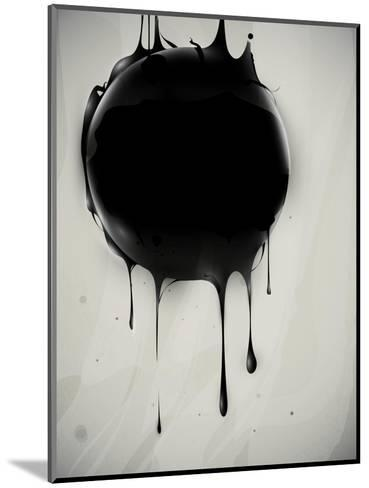 Abstract Oil Slick Flows With Drops-fet-Mounted Art Print