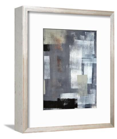 Green And Grey Abstract Art Painting-T30Gallery-Framed Art Print