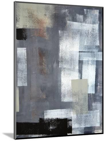 Green And Grey Abstract Art Painting-T30Gallery-Mounted Art Print