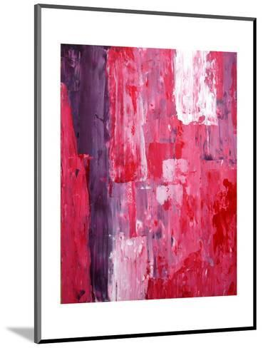 Pink And Purple Abstract Art Painting-T30Gallery-Mounted Art Print