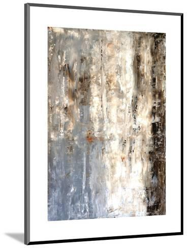 Brown And Grey Abstract Art Painting-T30Gallery-Mounted Art Print