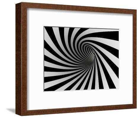 Tunnel Of Black And White Lines-iuyea-Framed Art Print