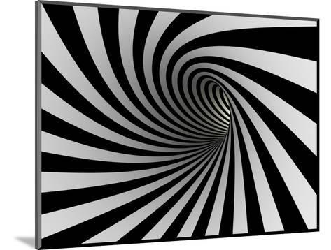 Tunnel Of Black And White Lines-iuyea-Mounted Art Print