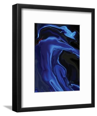 the blue kiss-Rabi Khan-Framed Art Print
