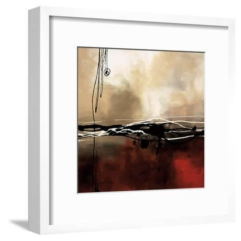 Symphony in Red and Khaki I-Laurie Maitland-Framed Art Print