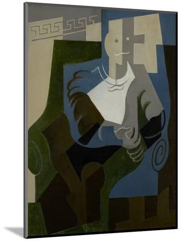 Seated Harlequin, C.1920-Juan Gris-Mounted Giclee Print
