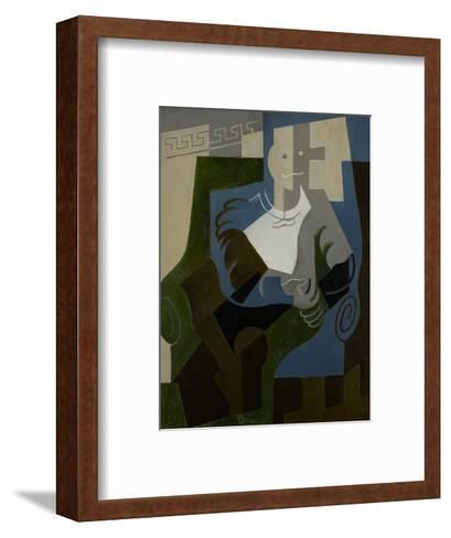 Seated Harlequin, C.1920-Juan Gris-Framed Art Print