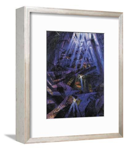 The Strengths of a Street-Umberto Boccioni-Framed Art Print