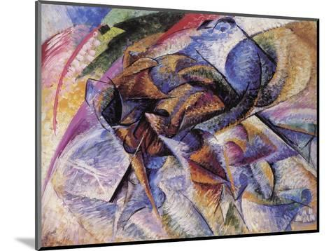 The Dynamism of a Cyclist-Umberto Boccioni-Mounted Giclee Print