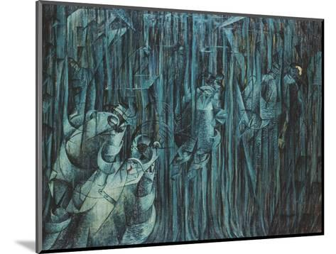 States of Mind: Those Who Stay, 1911-Umberto Boccioni-Mounted Giclee Print